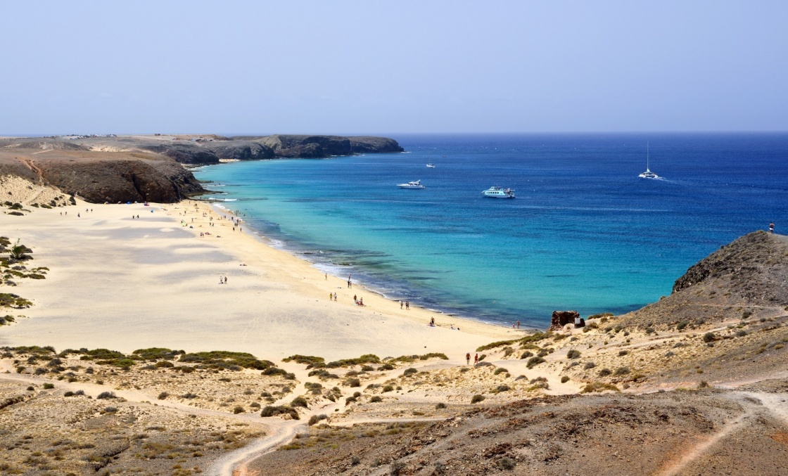 'Beach on Lanzarote.' - Canary Islands